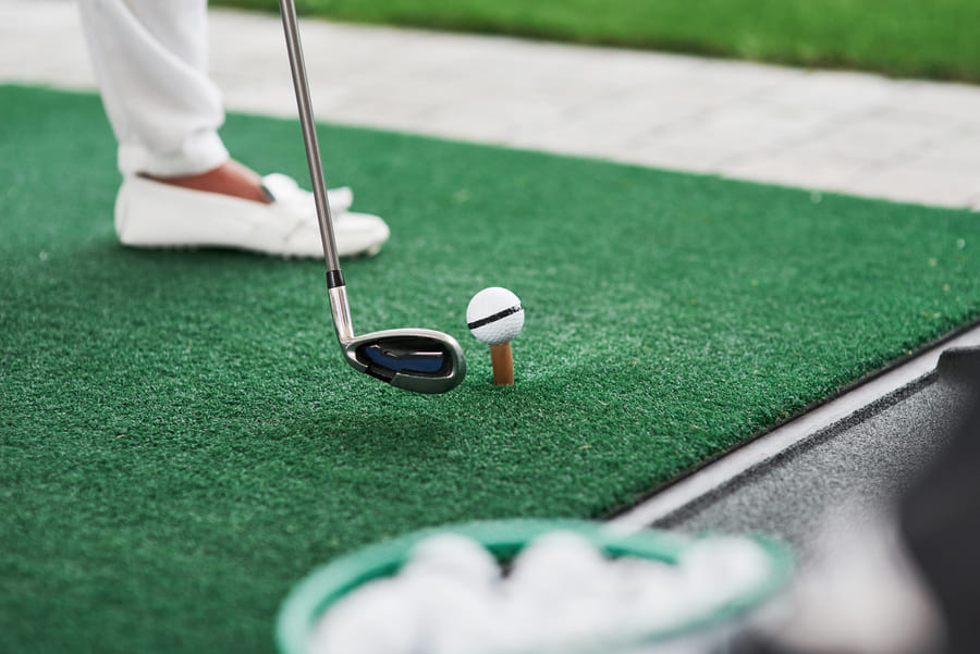 synthetic turf for golf course - artificial grass installation